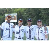 High Point-Thomasville HiToms All-Stars Manuel Lopez, Austin Pharr, Myles Christian and Zach McLean