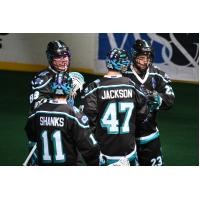 Rochester Knighthawks huddle
